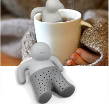 Wholesale Mr Tea Tea Set Teapot Bath Baby Silicone Tea Strainer 600PCS/lot