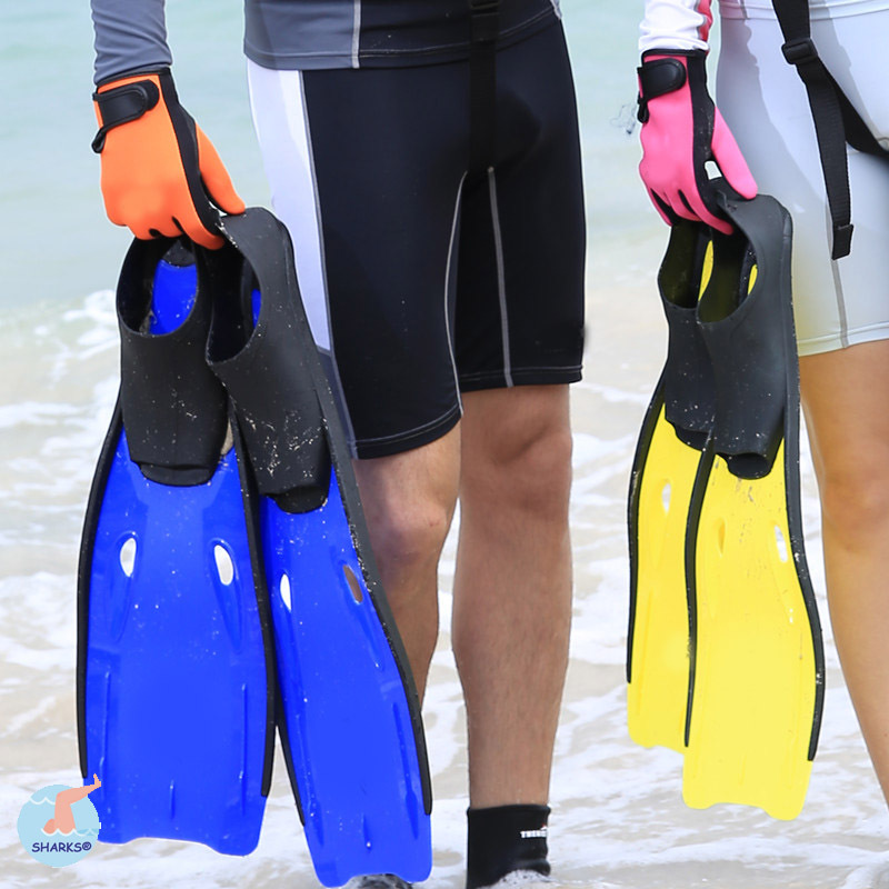 Adult Men Women Adjustable Submersible Silicone Long Swimming Flippers Swimming Diving Fins Blue Yellow Size S M L XL<br><br>Aliexpress