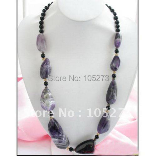 28inchs AA 8-60MM 45MM Massive Amethyst Round Agate Bead Necklace Multicolor Fashion Jewelry Wholesale Free Shipping FN1494<br><br>Aliexpress