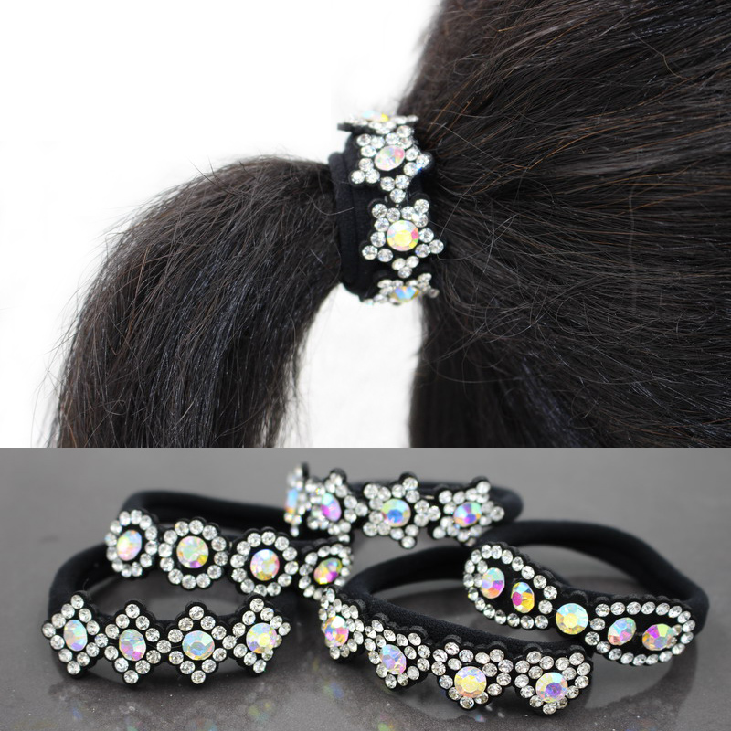 2016 Newest Wholesale 2pcs/lot top rhinestone star coil hair ties for women china style hair accessories(China (Mainland))