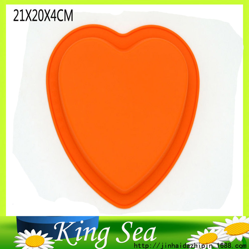 21X20CM Heart Shape Cake Mold Cupcake Silicone Cake Mold Cookie Biscuit Fondant Cutter Cookie Tools,Silicone Cake Pan(China (Mainland))