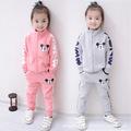 2016 Dongkuan Korean brand children wear boys and girls two piece cotton suit jacket zipper cartoon