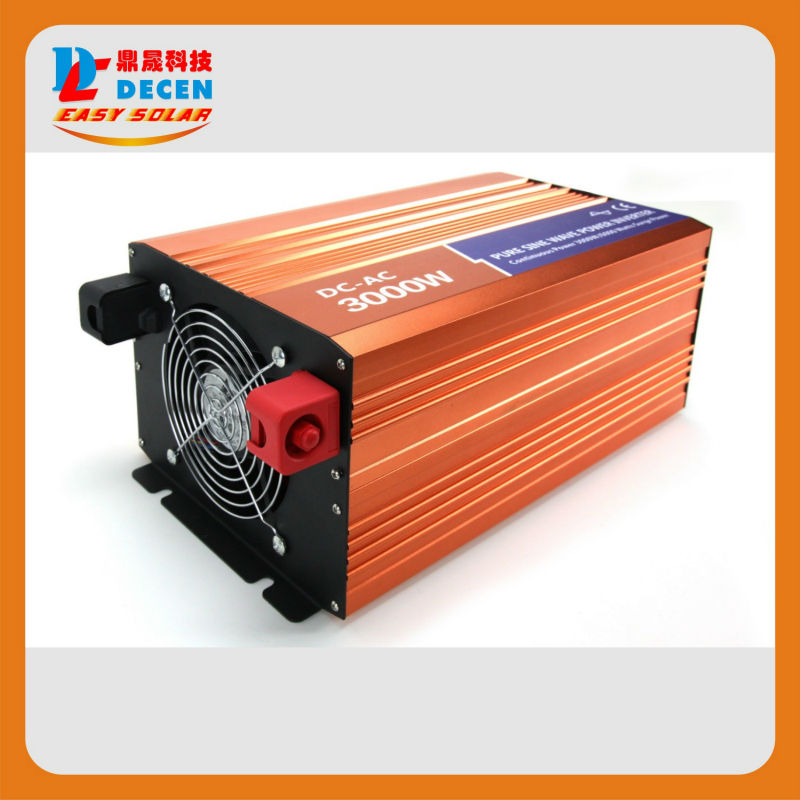 24VDC,3000W Solar Pure Sine Wave Off-grid Inverter or wind grid tie inverter Output 90-240Vac,Two year Warranty(China (Mainland))