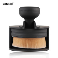 Big one! Easily Makeup! Pro Circle Oval Makeup Brush Foundation Loose Powder Cream Blush Air Brush Soft Smooth Cosmetic tool New(China (Mainland))