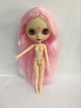 Buy Free shipping cost joint body Nude Blyth Doll, pink hair Factory doll Fashion doll Suitable For DIY Change BJD Toy For Girls for $61.60 in AliExpress store