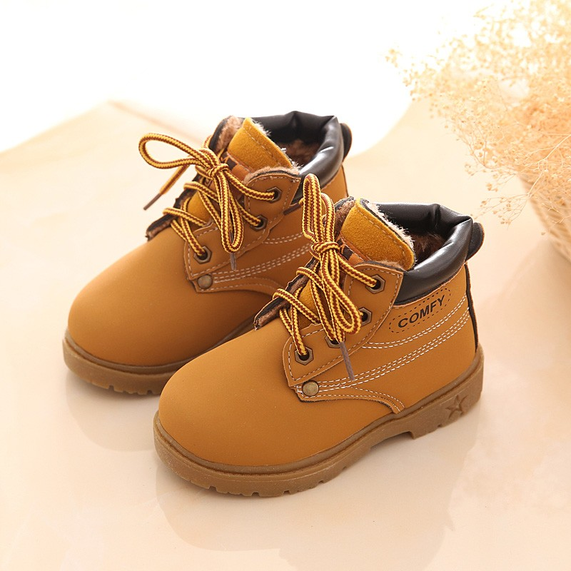 Comfy kids child snow boots shoes for girls boys boots fashion soft bottom baby girls boot  21-25 autumn winter child boots shoe