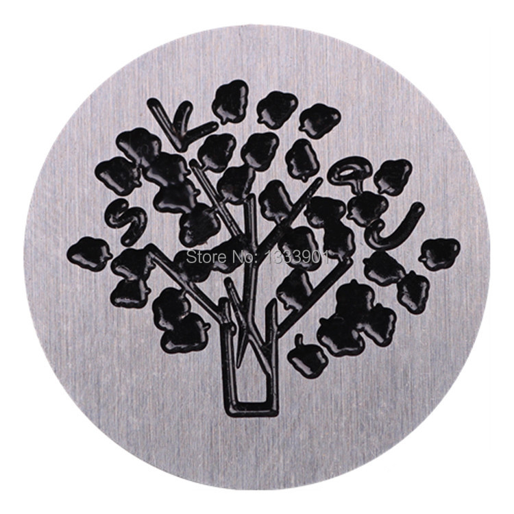 """10pcs/lot DIY 22mm stainless steel plates """"tree"""" accessory Charm fit for 30mm glass living memory lockets(China (Mainland))"""