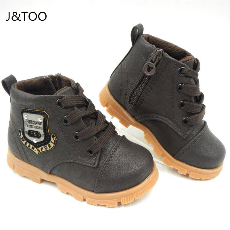 2017 Autumn boys baby Snow boots for girls children Martin boots kids ankle zip sneakers girl waterproof toddler shoes