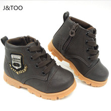 2016 Autumn boys baby Snow boots for girls children Martin boots kids ankle zip sneakers girl waterproof toddler shoes(China (Mainland))