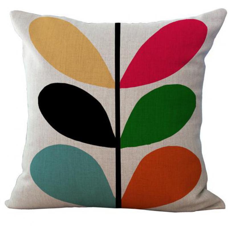 Factory Wholesale Modern Minimalist Petal Flowers Cotton Linen Pillow Case Lving Room Chiar Decorative Pillowcase