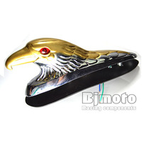 Motorcycle Bike Front Fender Mudguard Ornament Eagle Head Statue Fender Bonnet Emblem Motorbike ATV Dirt Bike Universal Motors