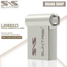 Suntrsi USB Flash Drive 64GB Mini Metal USB Stick Pen Drive High Speed Pendrive Customized Logo USB Flash Real Capacity(China (Mainland))