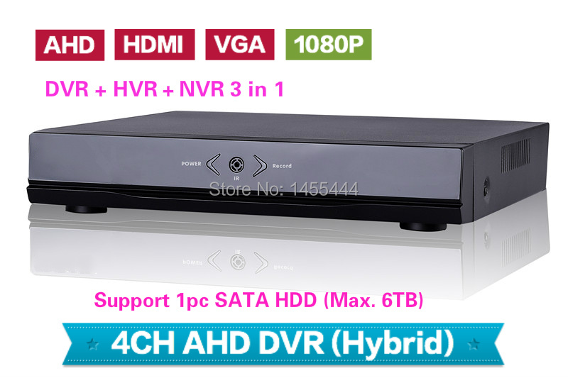 Free Shipping Economic HD AHD DVR 4CH 1080P CCTV DVR AVR Support P2P, Mobile Phone, connect with 1080P AHD Cameras(China (Mainland))