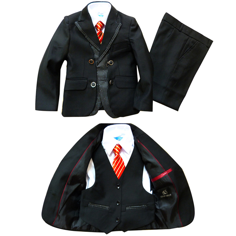 Top quality Boys Blazer suits 3 piece Wedding clothes for Baby boy Blazers jackets set Chidren Dress suit Kids baby clothes(China (Mainland))