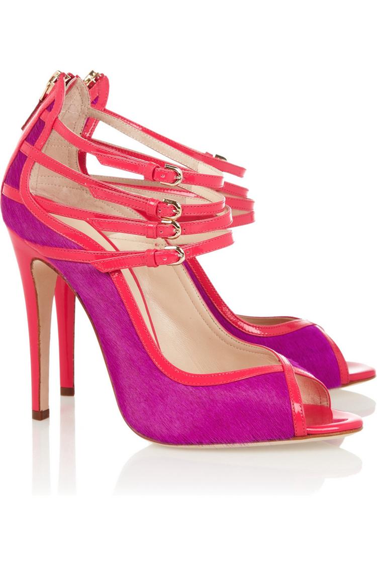 Hot Pink High Heel Sandals