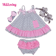 Buy 2017 New Baby Girls Clothes Set Cotton Newborns Gallus Ruffle Swing Top Bloomer Sets Leopard kids Baby Girl Clothing for $13.41 in AliExpress store