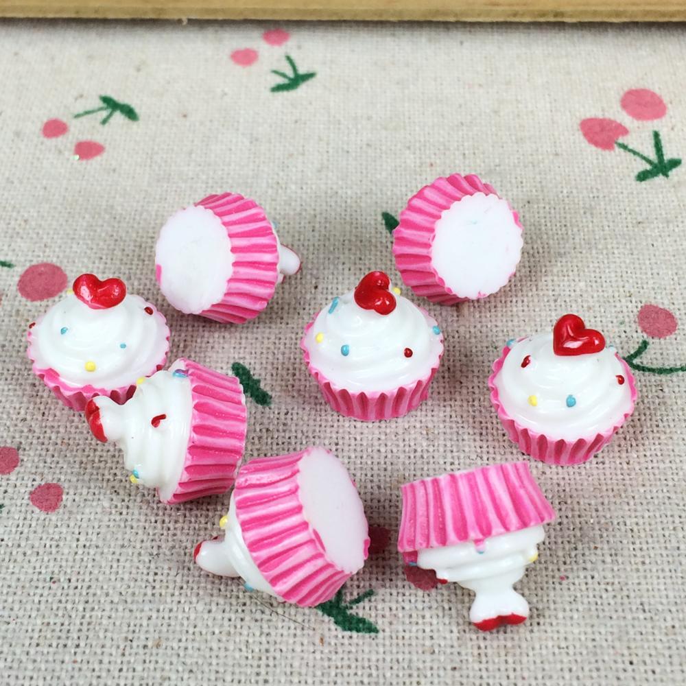 10Pieces Flat Back Resin Cabochon Miniature Fake Cake Food DIY Flat Back Decorative Craft Scrapbooking Accessories:18*20mm(China (Mainland))