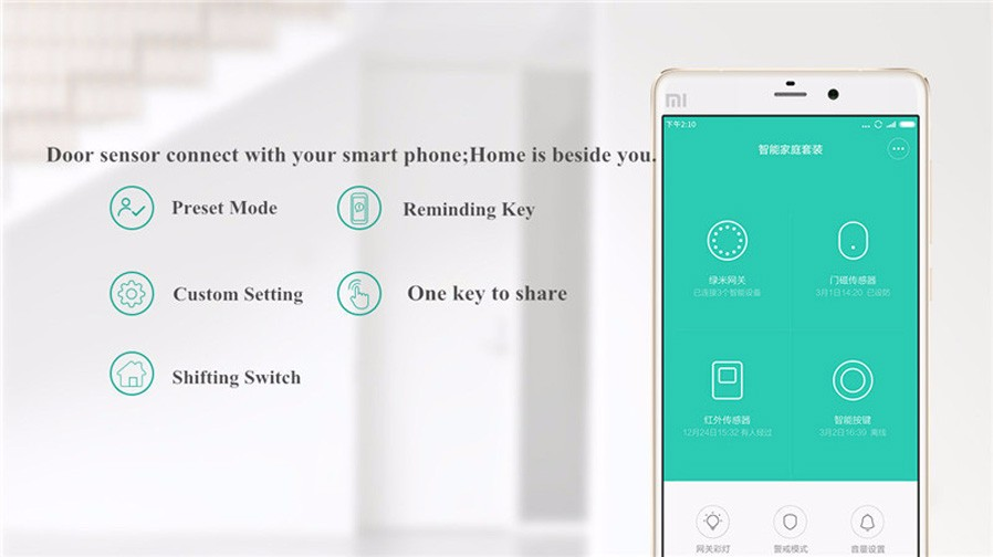 image for Xiaomi Mi Smart Door Window Sensor Intelligent Mijia Home Matched With