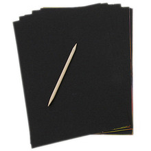 Free Shipping 10 Sheets 16K Colorful Magic Scratch Art Painting Paper With Free Drawing Stick Baby Drawing Toys(China (Mainland))