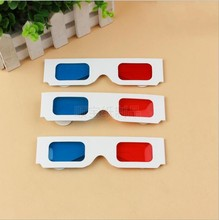 1000PCS Newest Paper Frame 3D Glasses Red Blue / Cyan Colors DHL Free Shipping(China (Mainland))