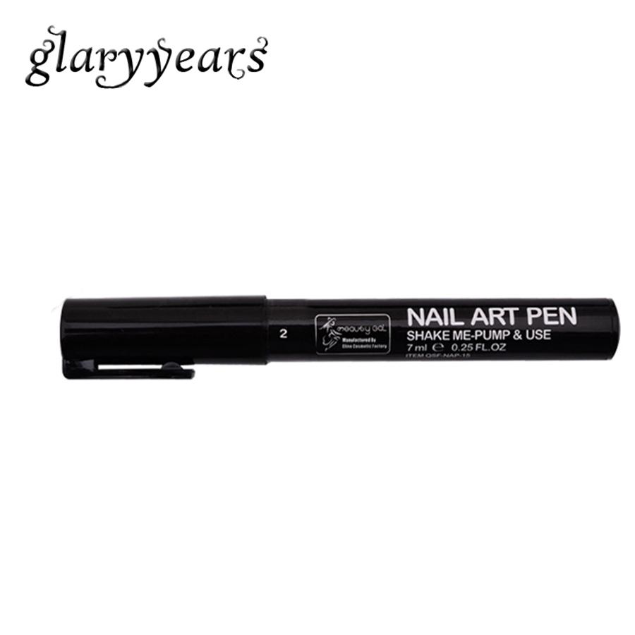 1 Piece Nail Art Pen Black Color Drawing Gel Polish Painting Nail Art Polish Manicures DIY Decoration Nail Tool High Quality #02(China (Mainland))