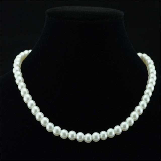 Женские украшения угольщики большая сеть имитация-жемчужное ожерелье свадебных ювелирных ...