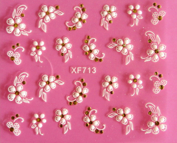 Direct continental carved three-dimensional nail stickers nail sticker nail art stickers 3D nail stickers XF713