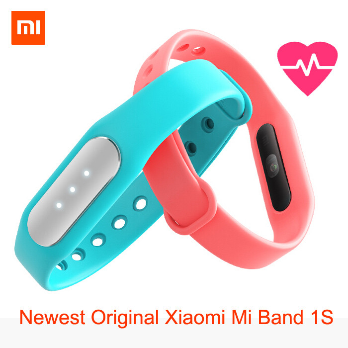 image for Newest Original Xiaomi Mi Band 1S Featured Heart Rate Monitor New Smar