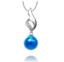 Classical Design Opal Pendant Blue / Purple Drop Pendant No Necklace Best Gift for Woman F08139(China (Mainland))