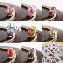 14MM 10Pcs Mixed Color 925 Silver Beads Charms Fit Pandora Jewelry Bracelet For Jewelry Handmade DK-012-X