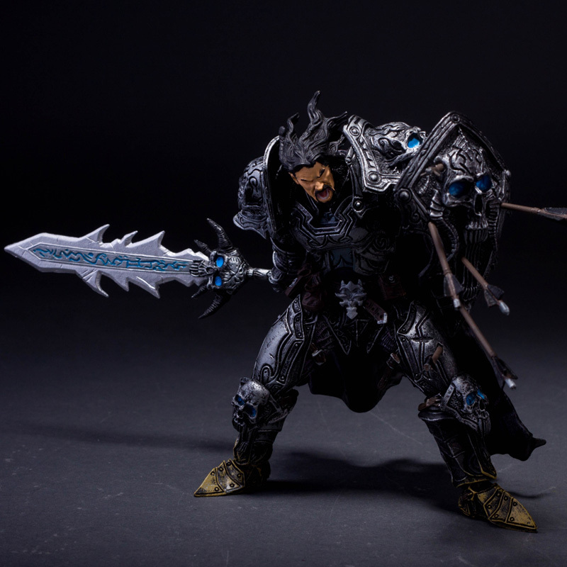 WOW Human warriors death Knights Anime models toys hobbies action toy figures anime games birthday gifts(China (Mainland))