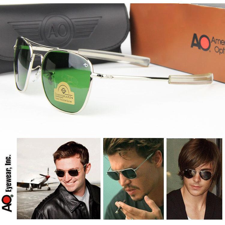 Air Force Pilots MILITARY AO Aviator Sunglasses Optical Glass Lense Alloy Frame Quality Driving Sunglasses original packaging(China (Mainland))