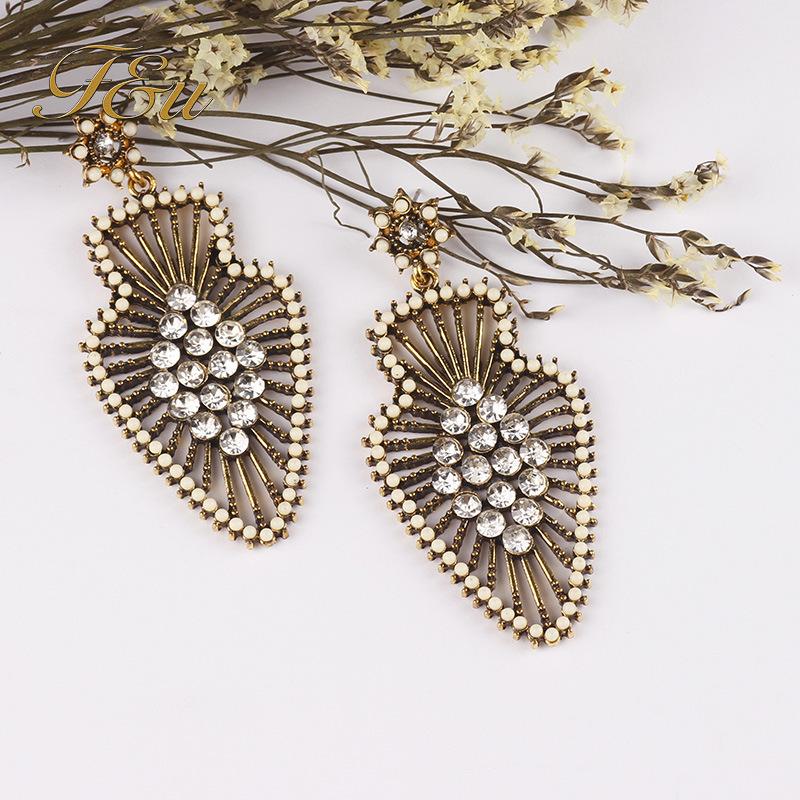 Free shipping wholesale cheap bohemian bottle or oval shape vintage dangle earrings(China (Mainland))