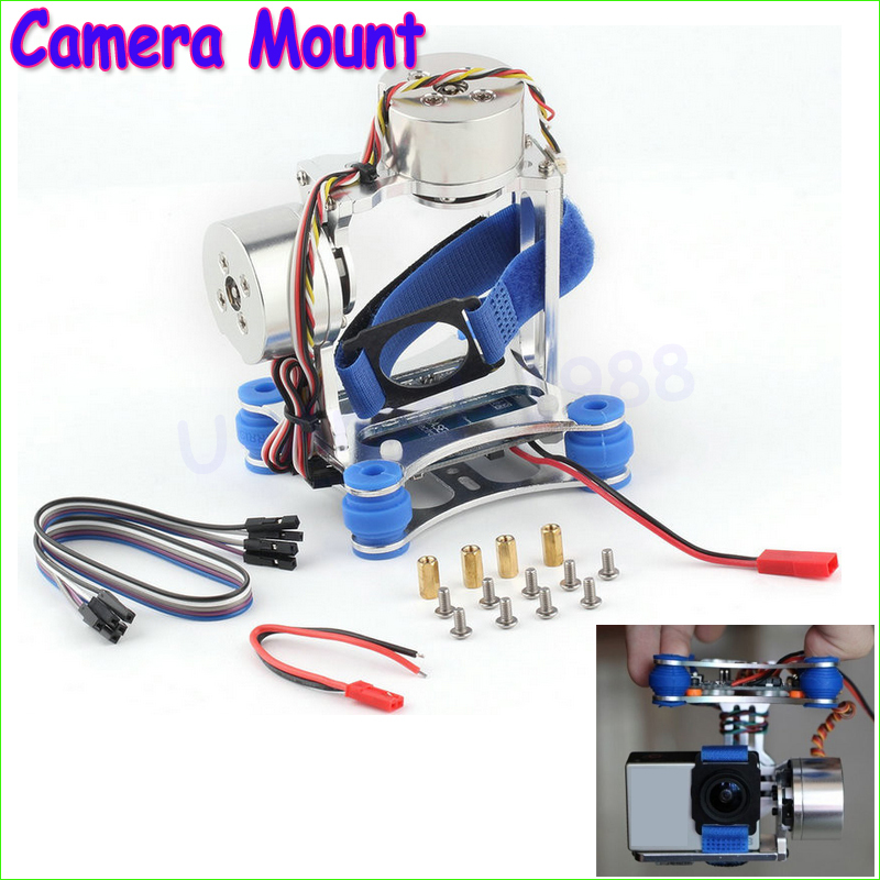 1pcs Camera Mount CNC Brushless Gimbal PTZ Motors Controller for GoPro Cameras for DJI Phantom Wholesale Dropship(China (Mainland))