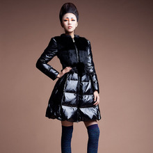 Skirt 2013 winter solid color down coat elegant winter thick women's yrf5