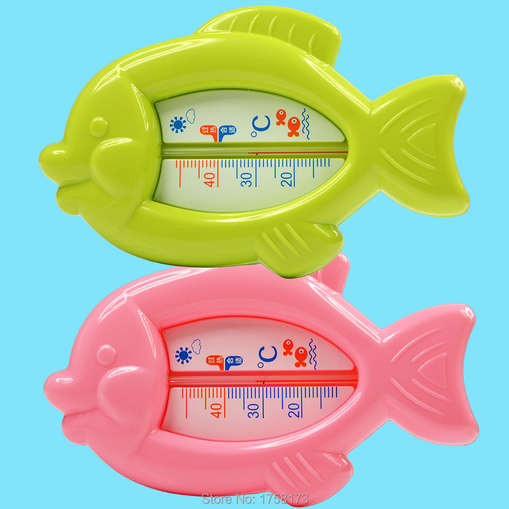 Thermometer Water Floating Lovely Fat Fish Baby Plastic Float Bath Toy Tub Sensor Temperature Meter 10-50C(China (Mainland))