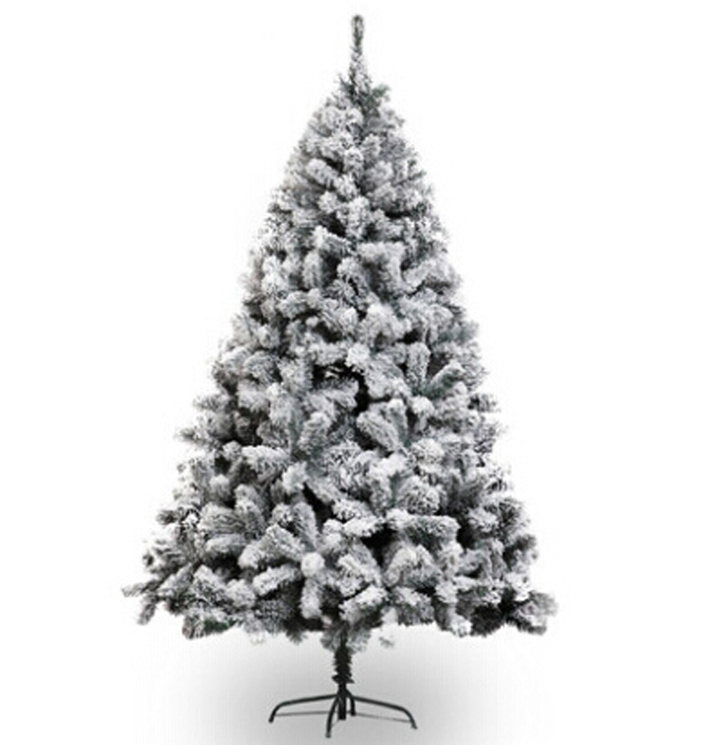 Free Shipping Event Party Christmas Xmas Tree 5'/150cm Heavy Snowed Pine Artificial Christmas Tree w/Stand -Snow(China (Mainland))
