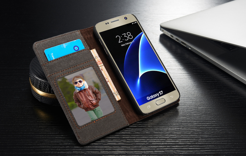 Luxury Case for Samsung Galaxy S7 CaseMe Brand Original Flip Magnetic Wallet Stand Cover for Samsung Galaxy S7 with Card Holder