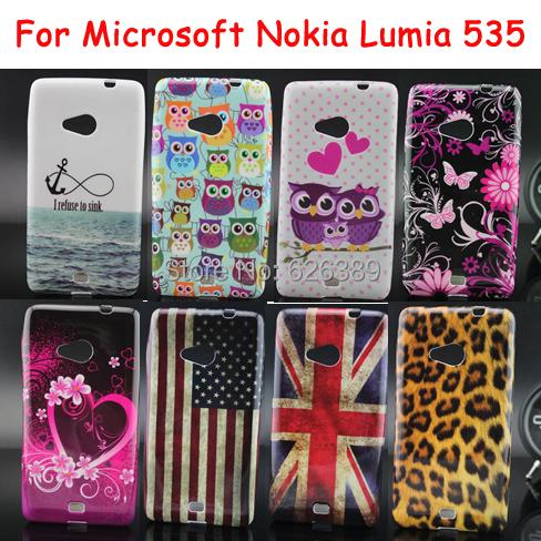 For Microsoft Lumia 535 Case US UK Flag Leopard Zebra Pattern Soft Cases Cover For Microsoft Nokia Lumia 535(China (Mainland))
