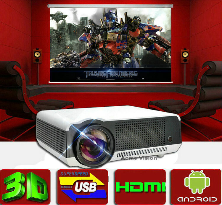 "Free gift 100"" screen ,Android 4.2 Full HD Led Digital Smart Projector,perfect 1080p LED home theater video overhead projector(China (Mainland))"