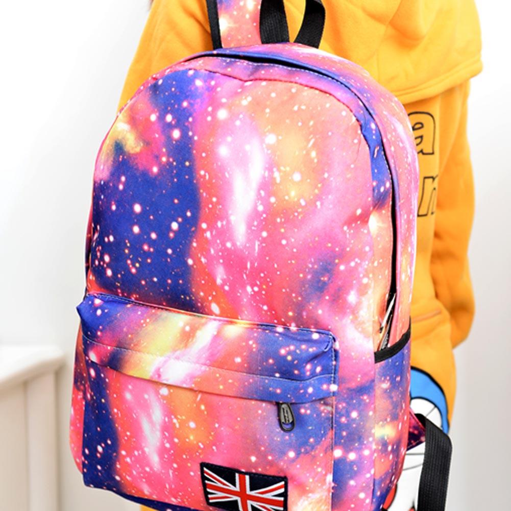 Fashion Unisex Stars Universe Space Printing Backpack School Book Backpacks British-flag Shoulder Bag HB88(China (Mainland))