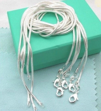 CN1 1mm snake chain necklace,Wholesale lots 5 pcs 925 sterling silver jewelry necklaces Fashion jewelry(China (Mainland))