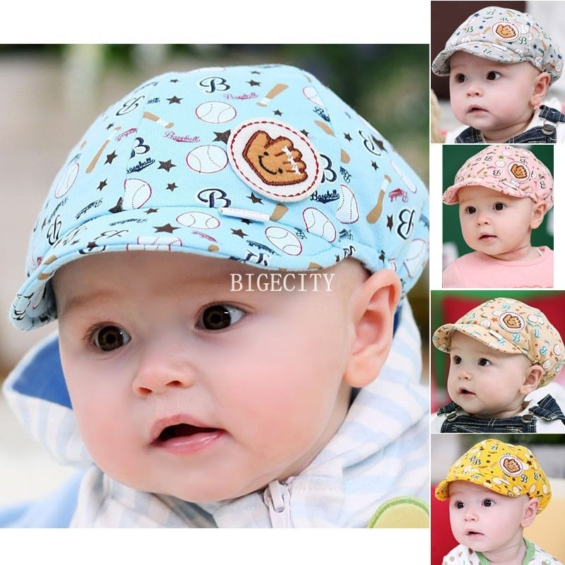 2014 Fashion New New Baby Kids Toodler Boy Girl Girls Cotton Hat Sun Baseball Cute Cap 5 Colors