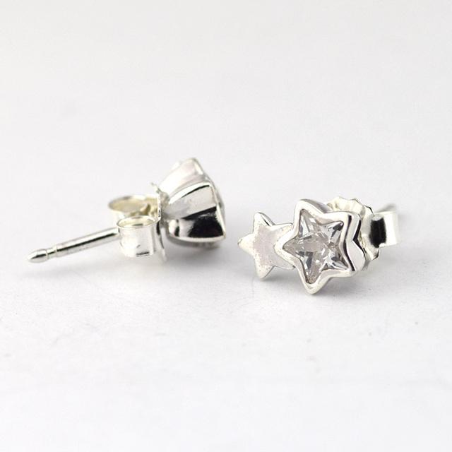 100% серебро 925 ювелирные Starshine ясно CZ серьги европейский мода гипоаллергенный DIY ювелирных аксессуаров