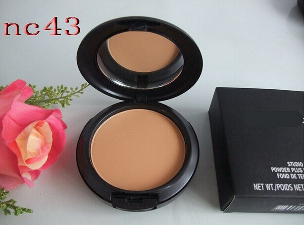 high quality Brand MC cosmetic makeup new studio fix face powder plus foundation powder concealer with sponge(China (Mainland))