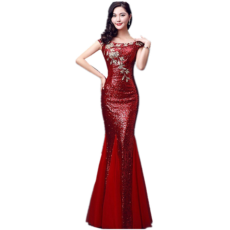 Popular Plus Size Red Sequin Prom Dress-Buy Cheap Plus Size Red ...