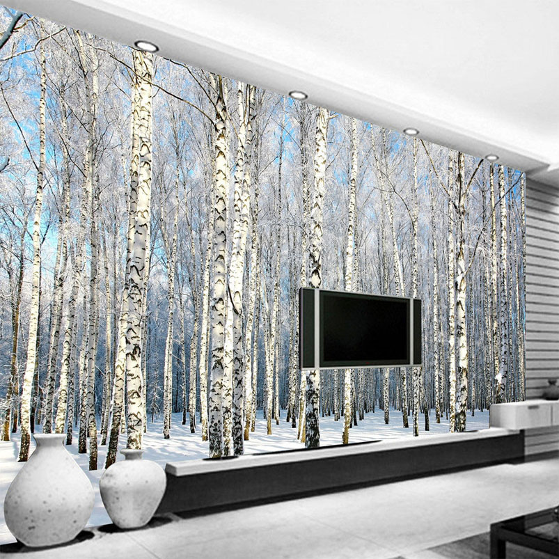 online get cheap birch wallpaper alibaba group. Black Bedroom Furniture Sets. Home Design Ideas