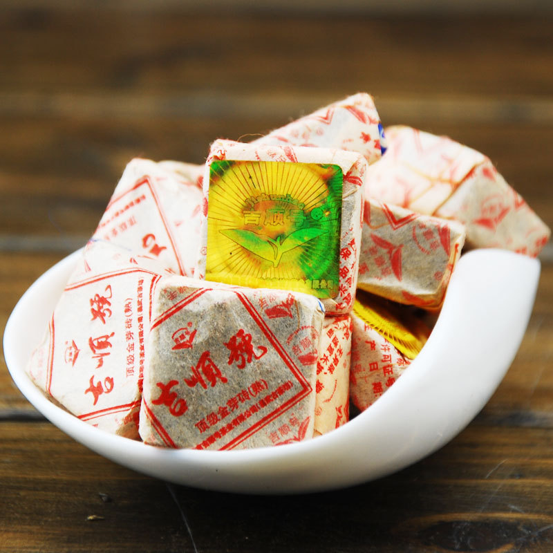 2015 new Yunnan ripe Pu er Tea small brick tea 5g grain buy direct from china
