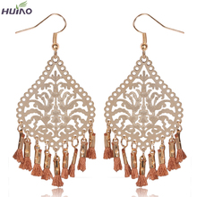 Brinco Long Earrings Direct Selling Women Vintage Ribbon Pendientes Earrings For Earings Fancy New Design Laser Cutting Hanging(China (Mainland))