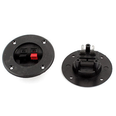 2 Pcs Round Shape 2 Position Spring Clip Speaker Terminals Binding Post Board(China (Mainland))